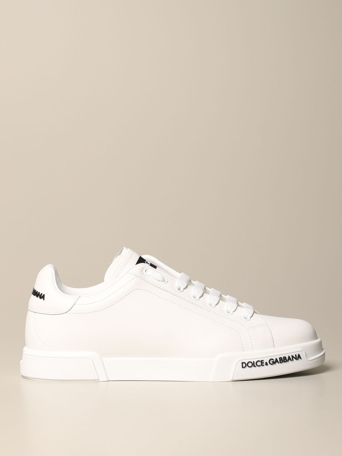 Sneakers Dolce & Gabbana: Dolce & Gabbana sneakers in leather with logo white 1