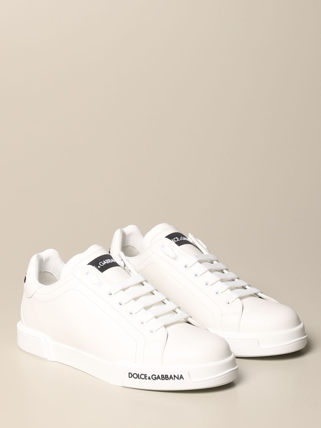 Sneakers Dolce & Gabbana: Dolce & Gabbana sneakers in leather with logo white 2