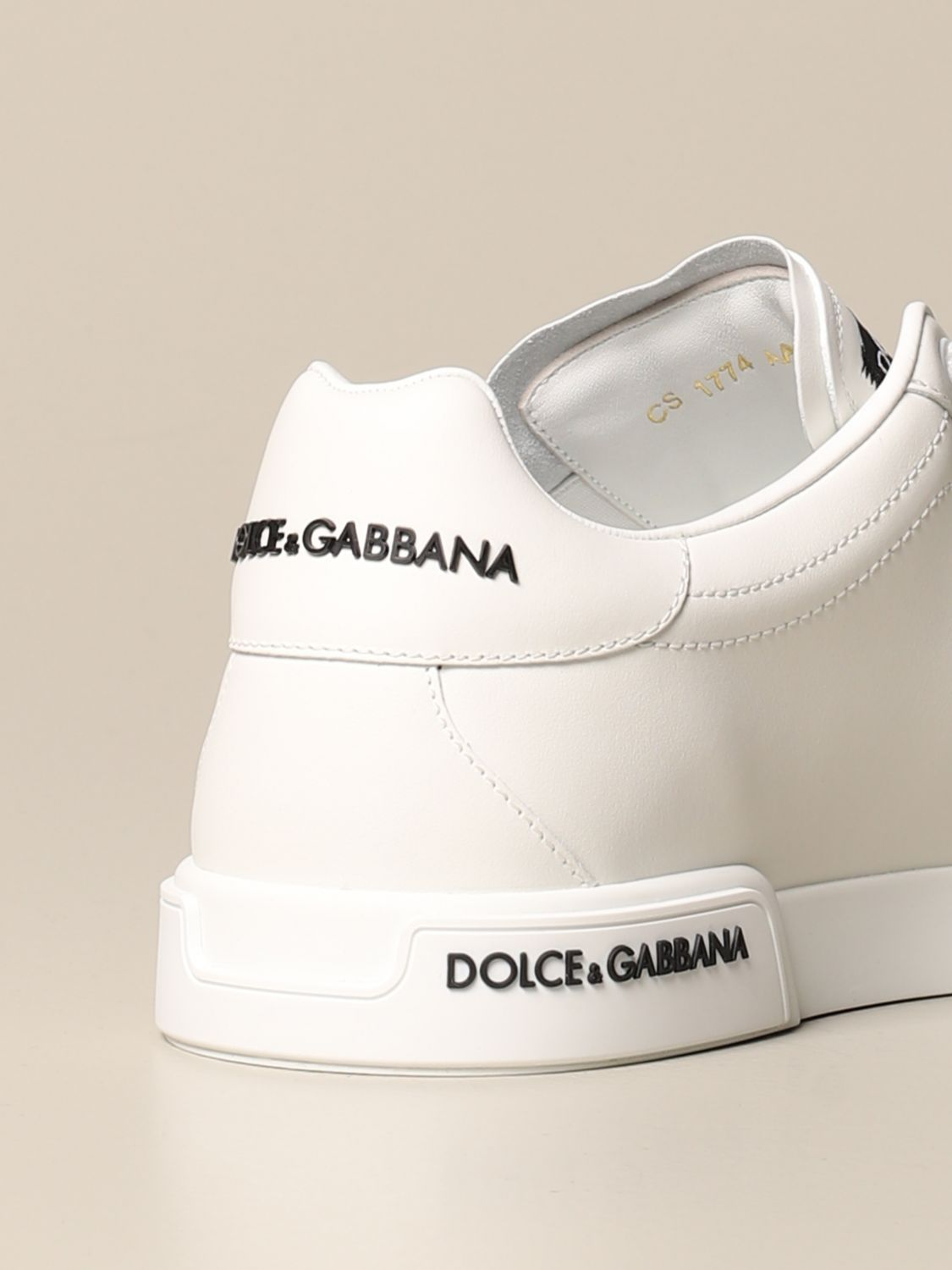 Sneakers Dolce & Gabbana: Dolce & Gabbana sneakers in leather with logo white 3