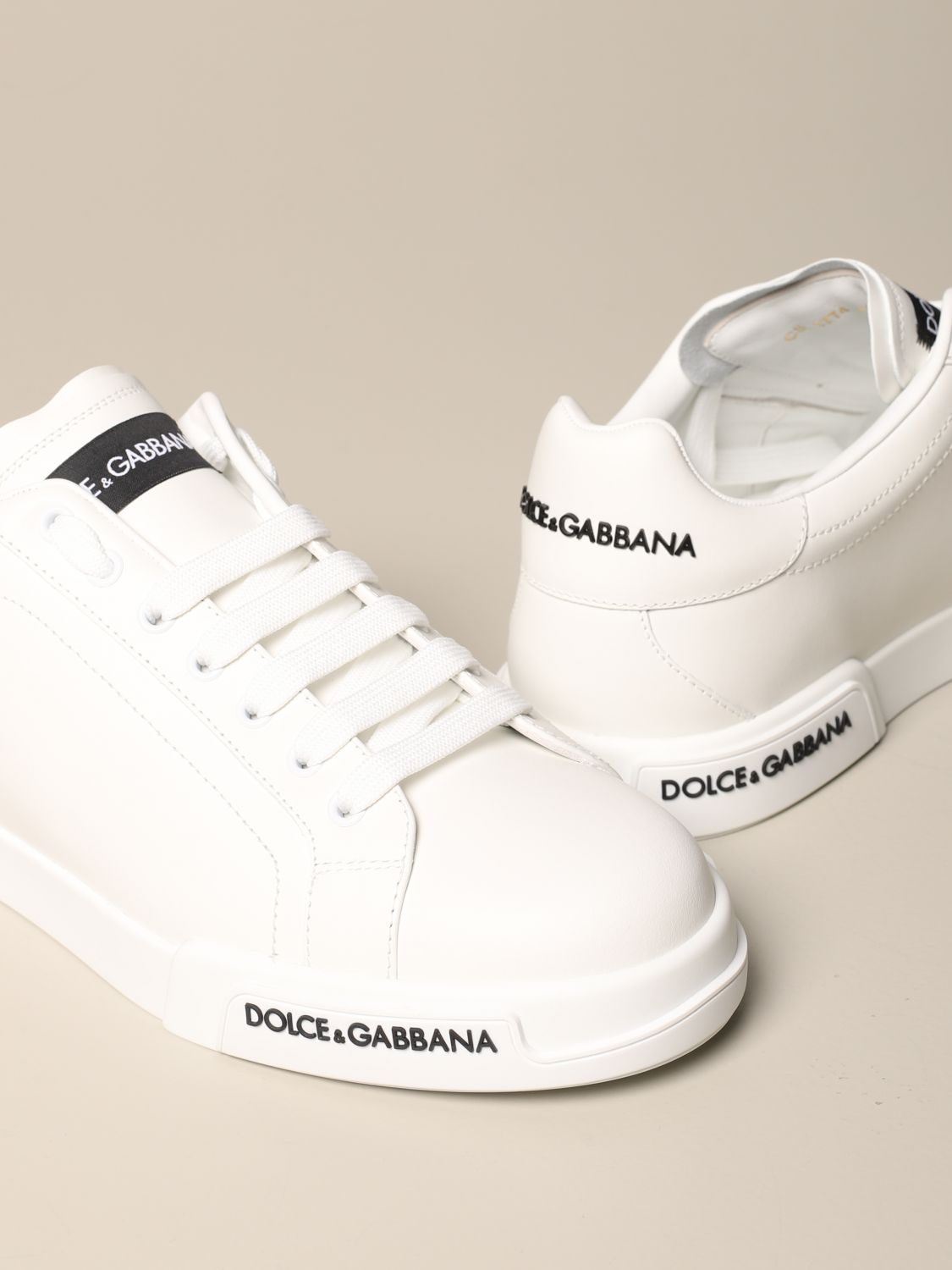 Sneakers Dolce & Gabbana: Dolce & Gabbana sneakers in leather with logo white 4