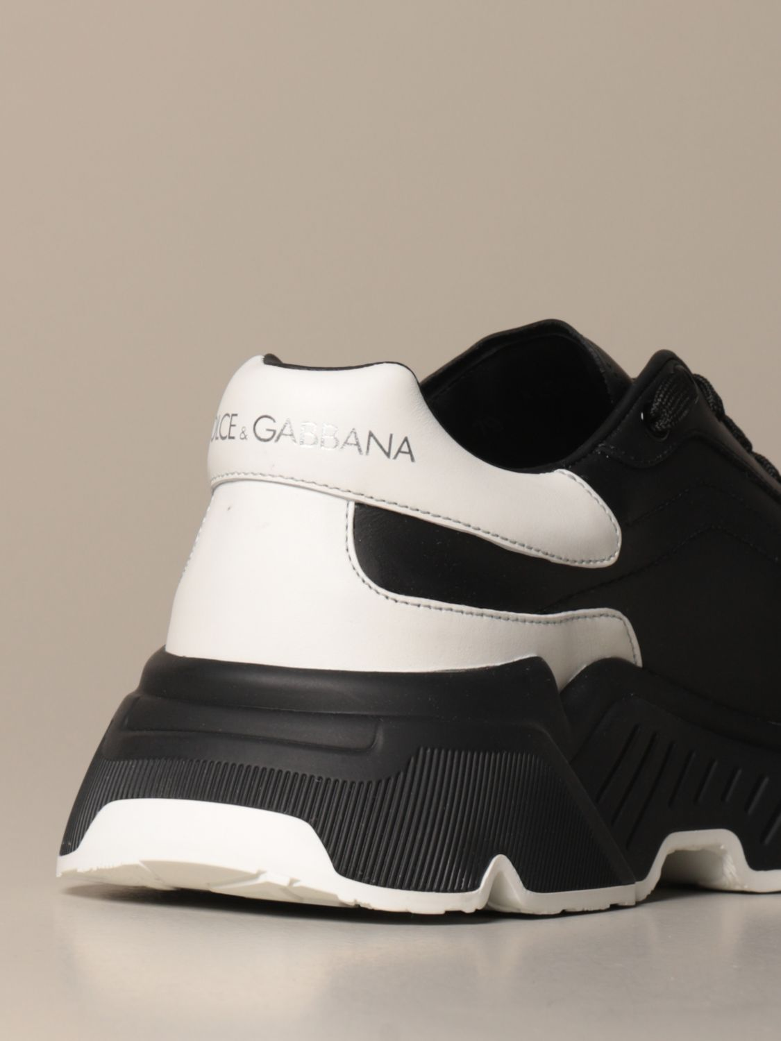Sneakers Dolce & Gabbana: Dolce & Gabbana running sneakers in leather with logo multicolor 3