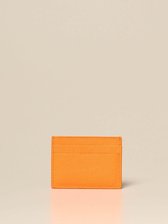 Wallet Balenciaga: Balenciaga credit card holder in leather orange 2
