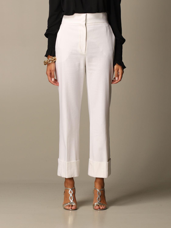 Pantalon Alberta Ferretti: Pantalon femme Alberta Ferretti blanc 1