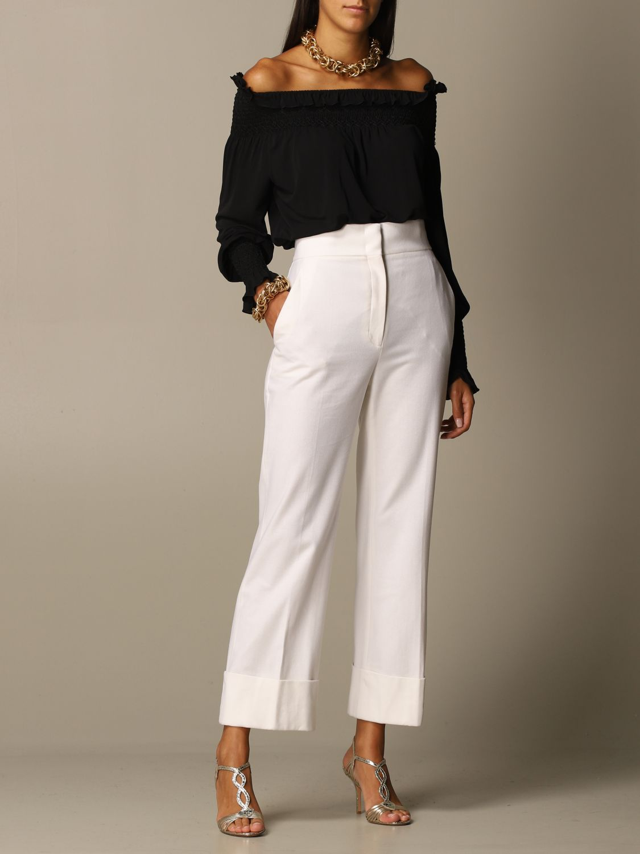 Pantalon Alberta Ferretti: Pantalon femme Alberta Ferretti blanc 2