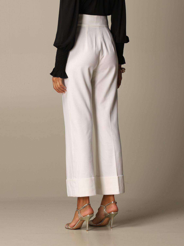 Pantalon Alberta Ferretti: Pantalon femme Alberta Ferretti blanc 3
