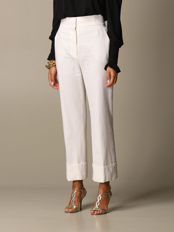 Pantalon Alberta Ferretti: Pantalon femme Alberta Ferretti blanc 4
