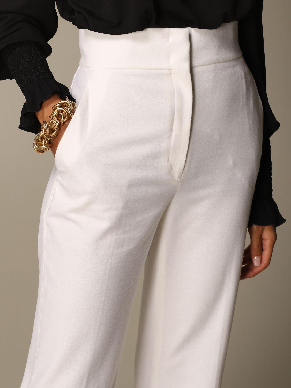 Pantalon Alberta Ferretti: Pantalon femme Alberta Ferretti blanc 5