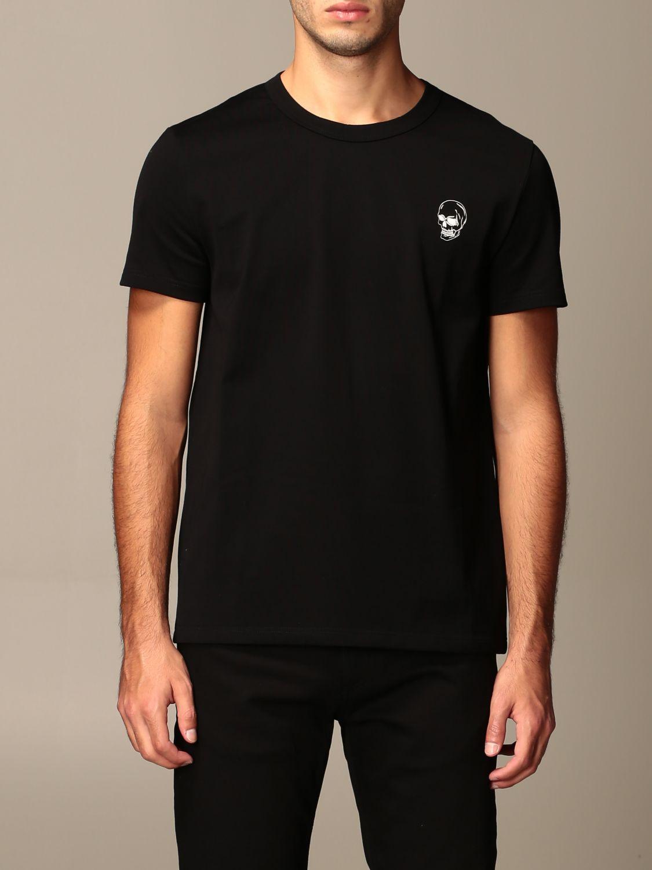T-shirt Alexander Mcqueen: T-shirt Alexander McQueen con stampa poker teschio nero 1