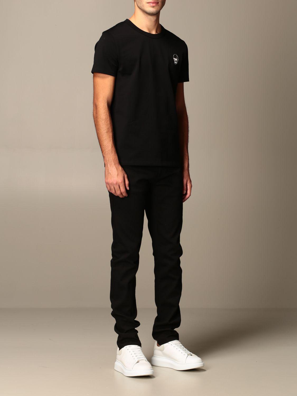T-shirt Alexander Mcqueen: T-shirt Alexander McQueen con stampa poker teschio nero 2