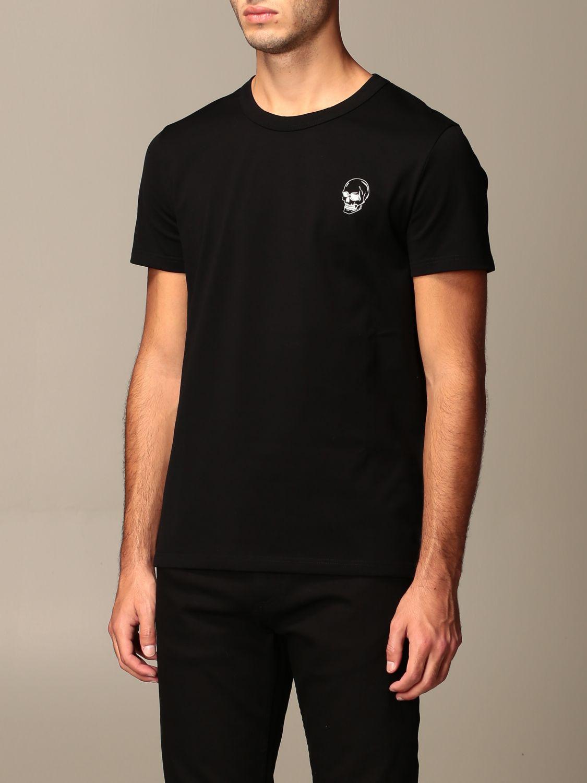 T-shirt Alexander Mcqueen: T-shirt Alexander McQueen con stampa poker teschio nero 4