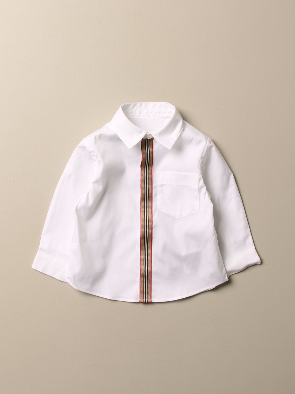 Camisa Burberry: Camisa niños Burberry blanco 1