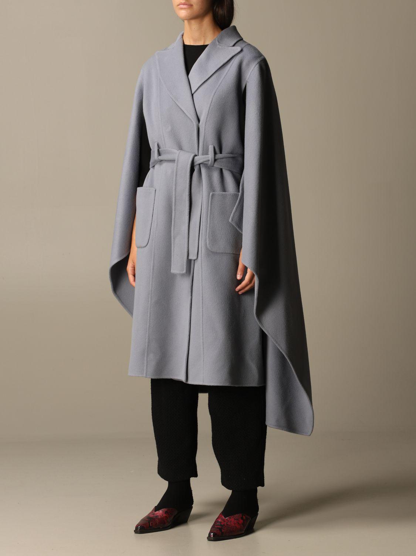 Manteau Alberta Ferretti: Veste femme Alberta Ferretti bleu ciel 4