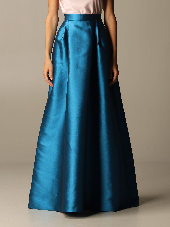 Skirt Alberta Ferretti: Skirt women Alberta Ferretti gnawed blue 1