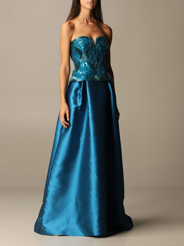Skirt Alberta Ferretti: Skirt women Alberta Ferretti gnawed blue 2