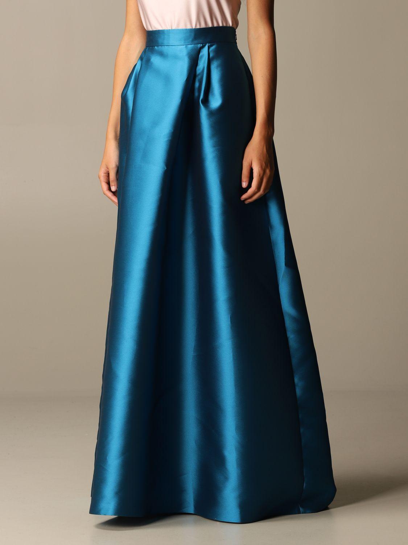 Skirt Alberta Ferretti: Skirt women Alberta Ferretti gnawed blue 4