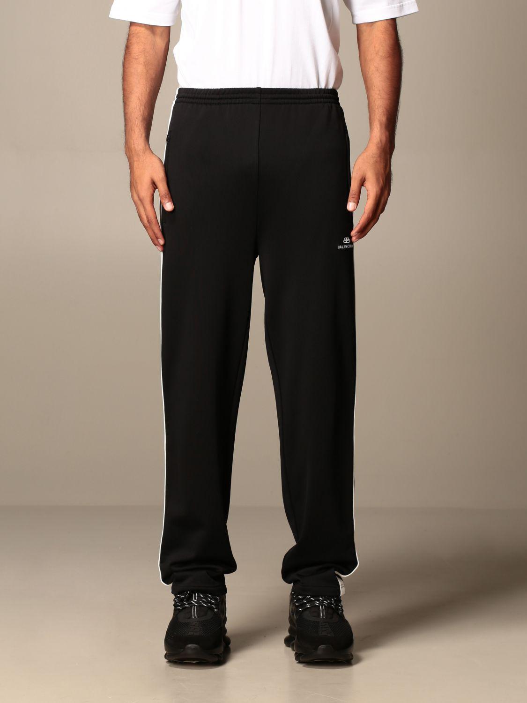 Pants Balenciaga: Balenciaga jogging trousers with contrasting bands black 1