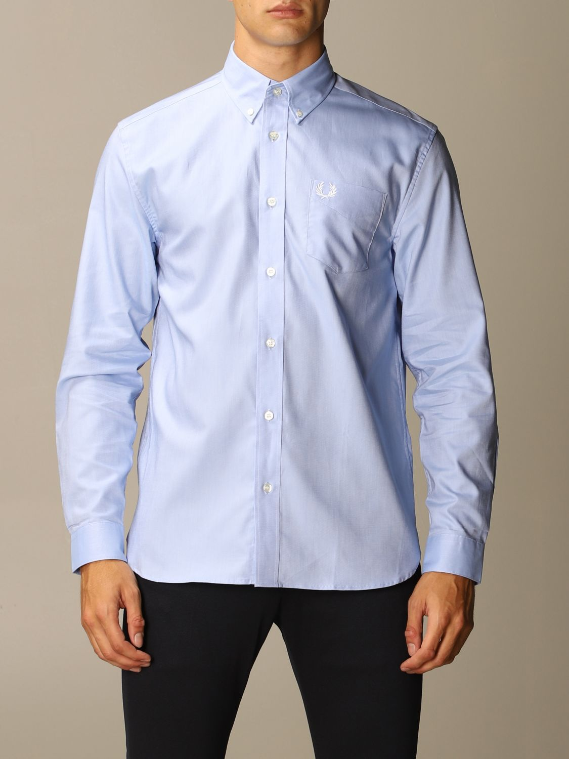 Shirt Fred Perry: Shirt men Fred Perry sky blue 1