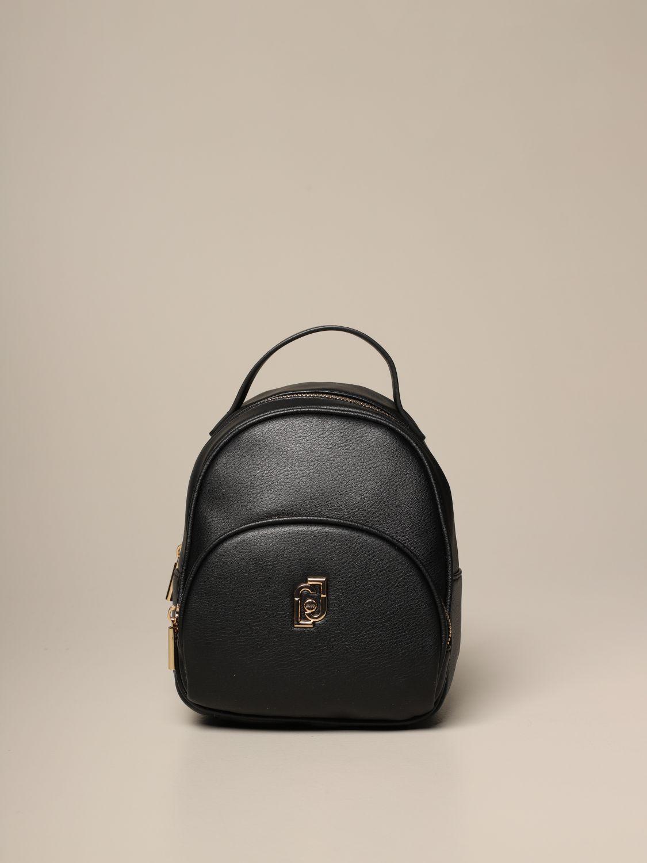 Duffel Bag Liu Jo: Liu Jo backpack in synthetic leather with logo black 1