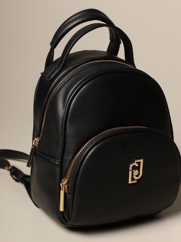 Duffel Bag Liu Jo: Liu Jo backpack in synthetic leather with logo black 3
