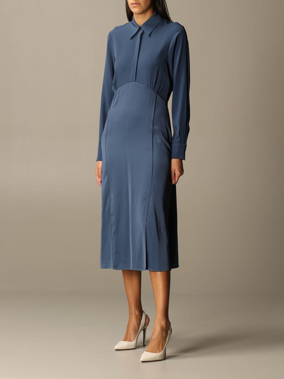 Kleid Victoria Victoria Beckham: Kleid damen Victoria Victoria Beckham blau 3
