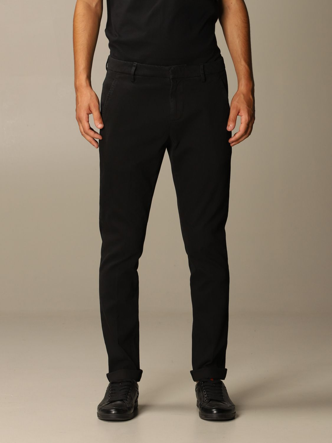 Pants Dondup: Pants men Dondup black 1