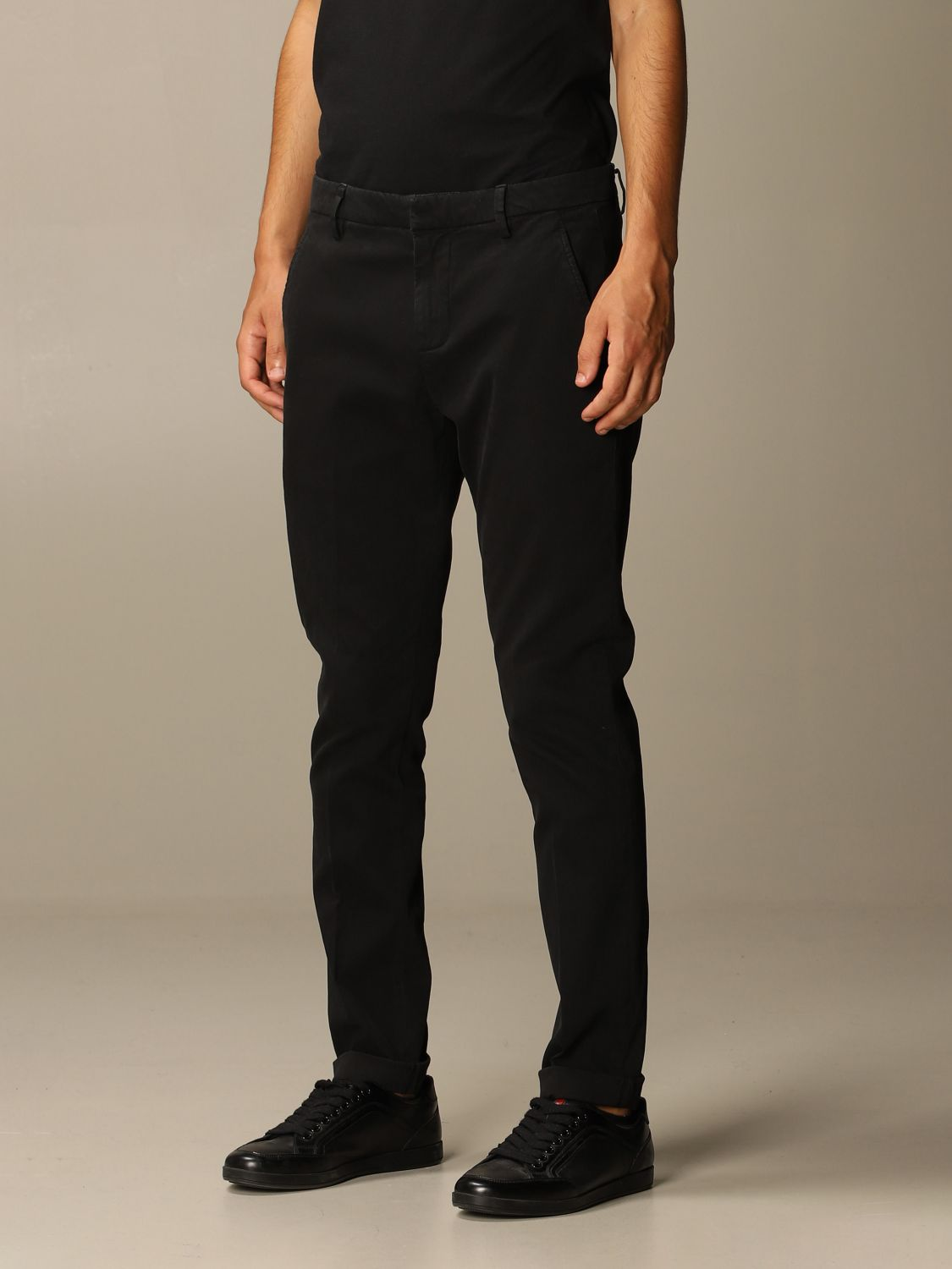 Pants Dondup: Pants men Dondup black 3