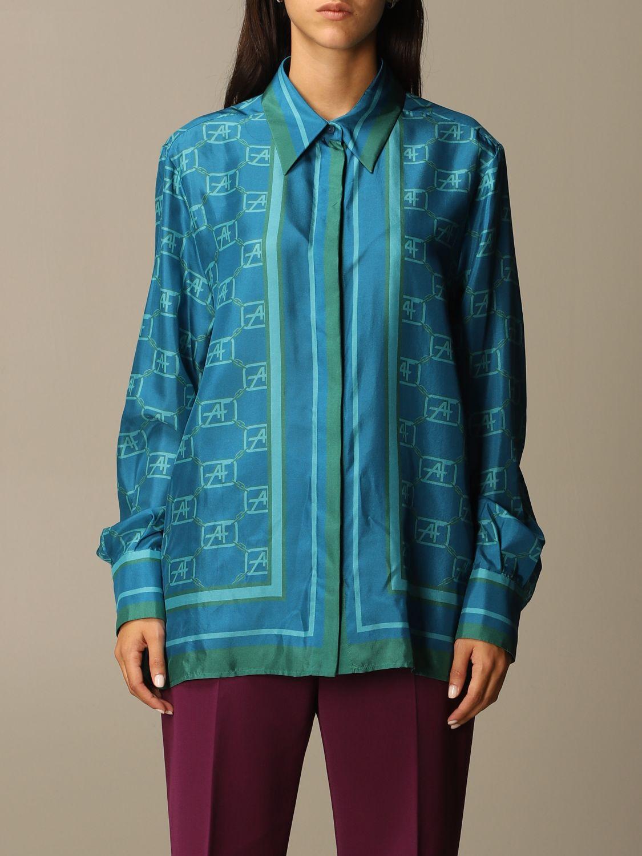 Chemise Alberta Ferretti: Chemise femme Alberta Ferretti bleu 1