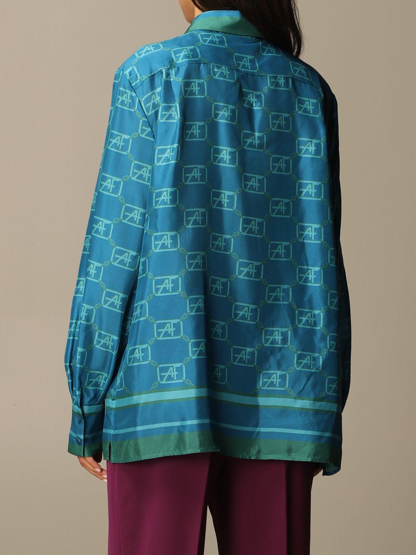 Chemise Alberta Ferretti: Chemise femme Alberta Ferretti bleu 3