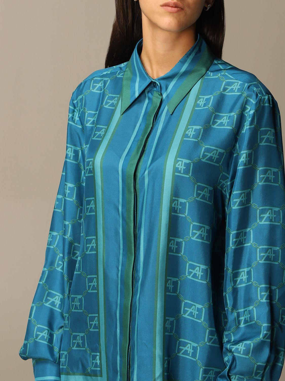 Chemise Alberta Ferretti: Chemise femme Alberta Ferretti bleu 4