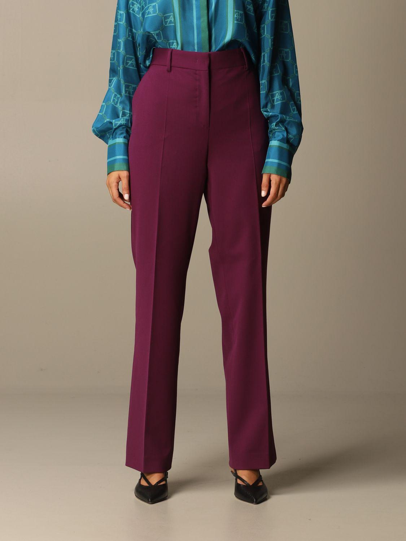 Pantalon Alberta Ferretti: Pantalon femme Alberta Ferretti violet 1