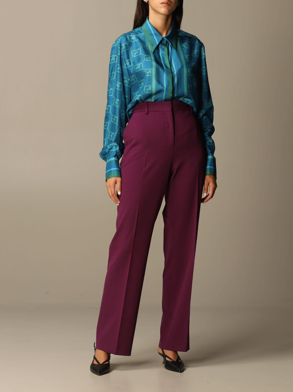 Pantalon Alberta Ferretti: Pantalon femme Alberta Ferretti violet 2