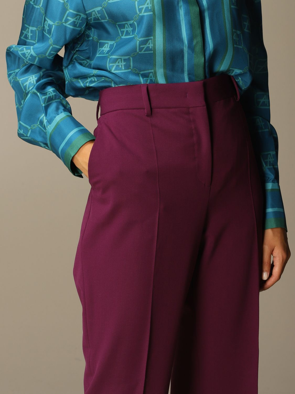 Pantalon Alberta Ferretti: Pantalon femme Alberta Ferretti violet 4