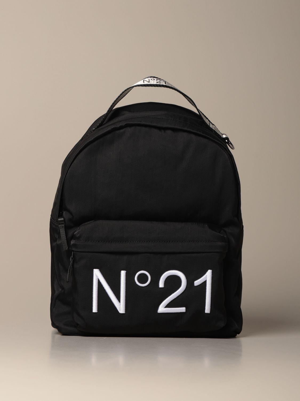 Duffel Bag N° 21: N ° 21 nylon backpack with embroidered logo black 1