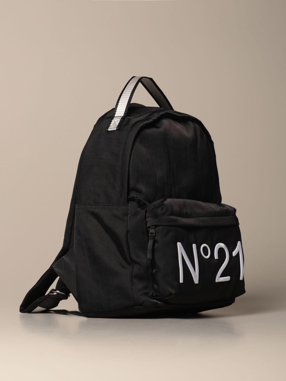 Duffel Bag N° 21: N ° 21 nylon backpack with embroidered logo black 2