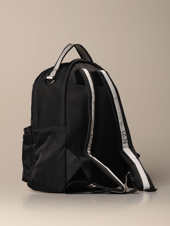 Duffel Bag N° 21: N ° 21 nylon backpack with embroidered logo black 3