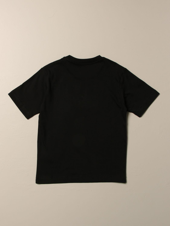 T-shirt Diesel: T-shirt Diesel a girocollo in cotone con logo metallizzato nero 2