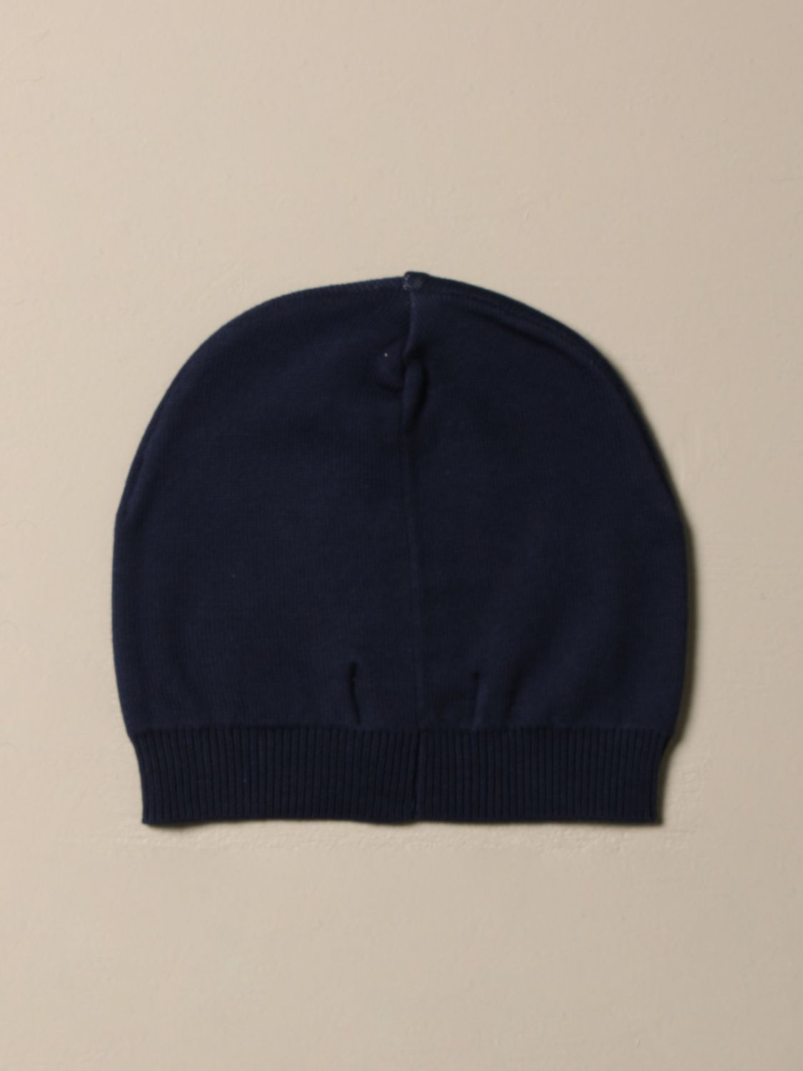 Hat Moschino Baby: Moschino Baby cotton hat with Teddy patch blue 2