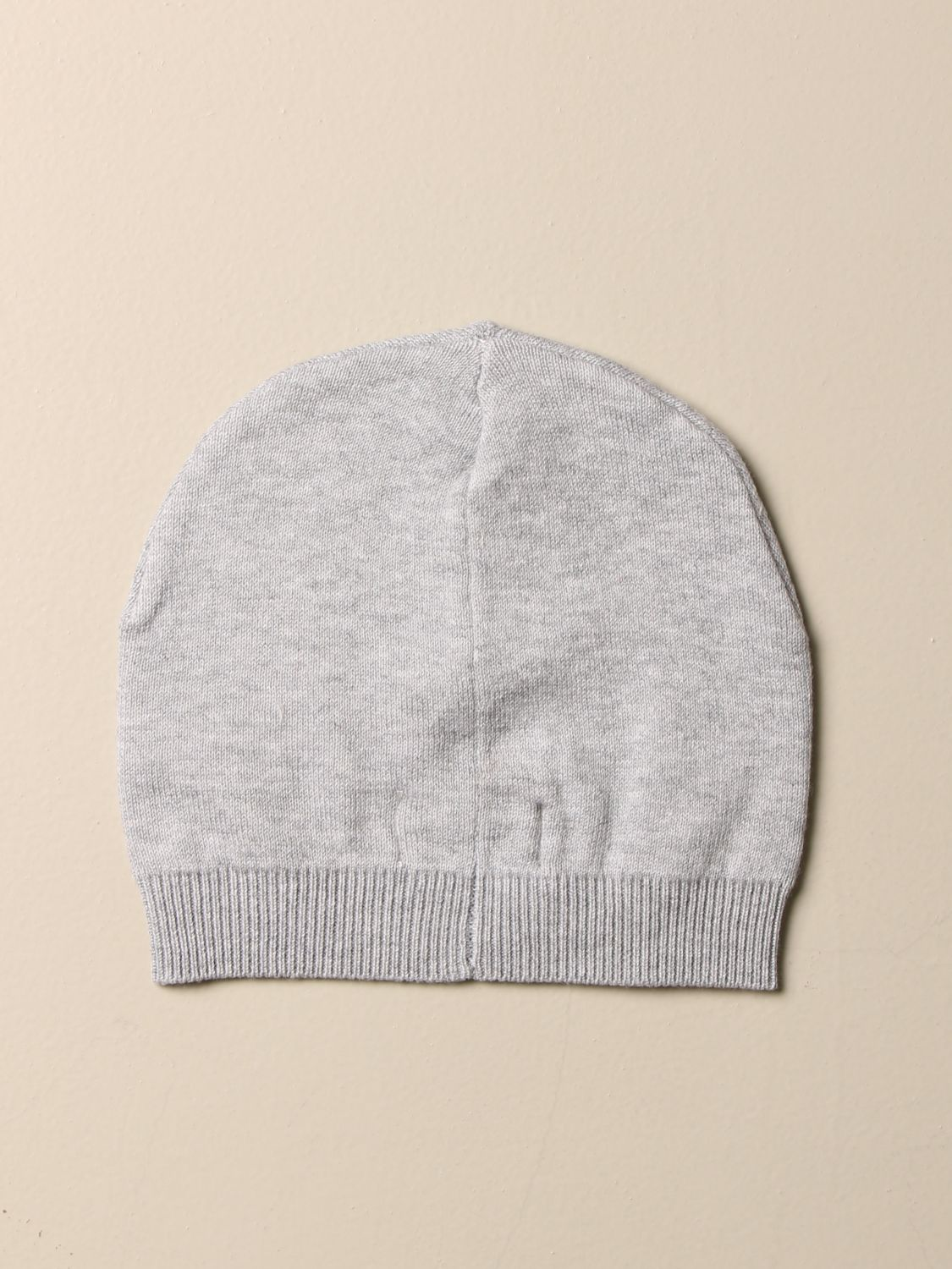 Hat Moschino Baby: Moschino Baby cotton hat with Teddy patch grey 2