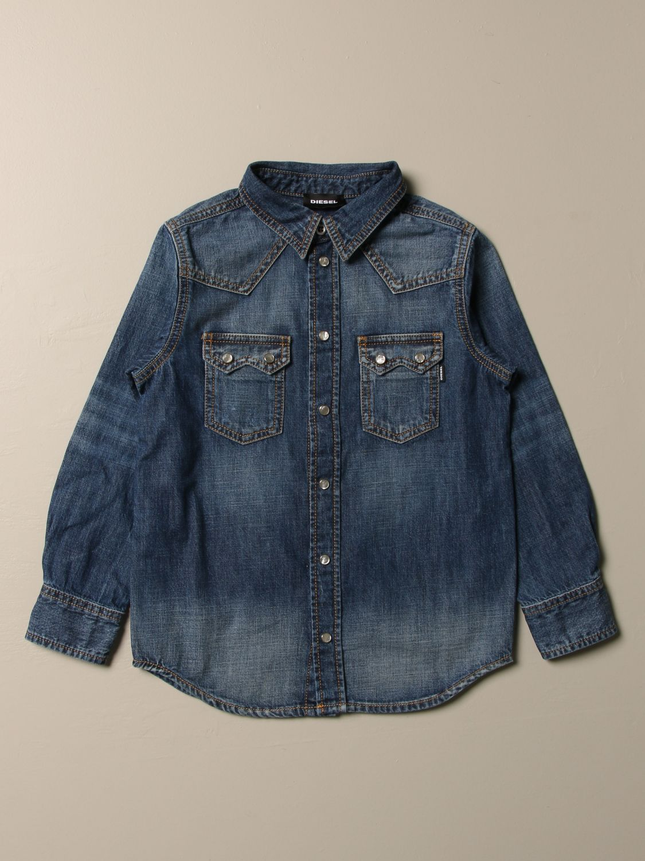 Camicia Diesel: Camicia di jeans Diesel con logo denim 1
