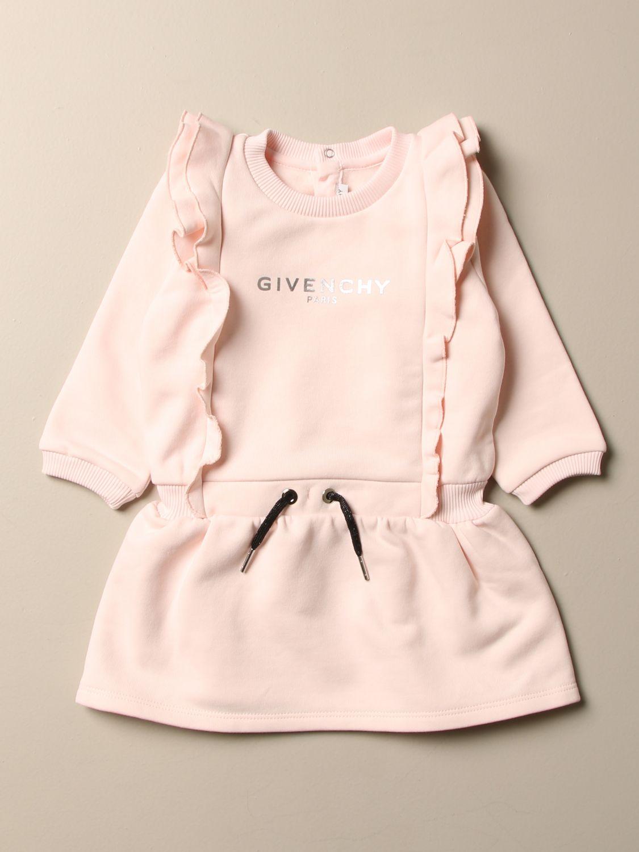 Abito Givenchy: Abito Givenchy con coulisse e logo laminato rosa 1