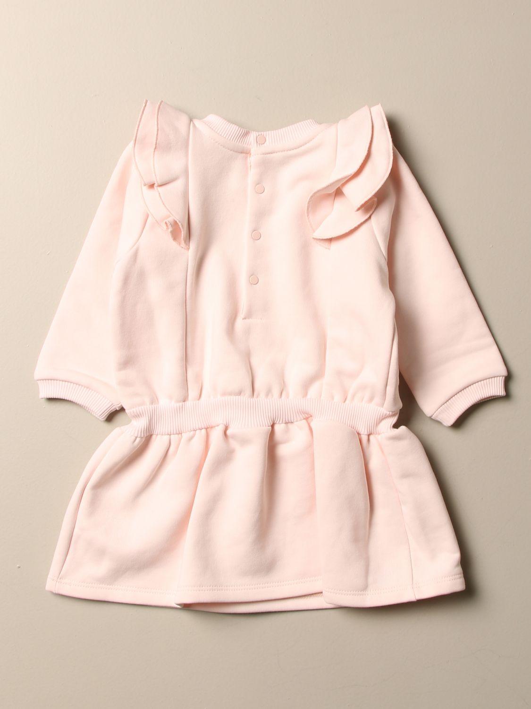 Abito Givenchy: Abito Givenchy con coulisse e logo laminato rosa 2