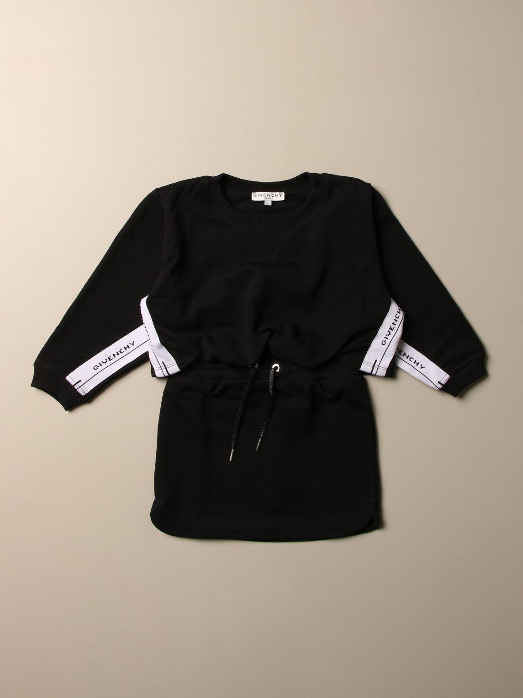 Abito Givenchy: Abito Givenchy in cotone con bande logate nero 1