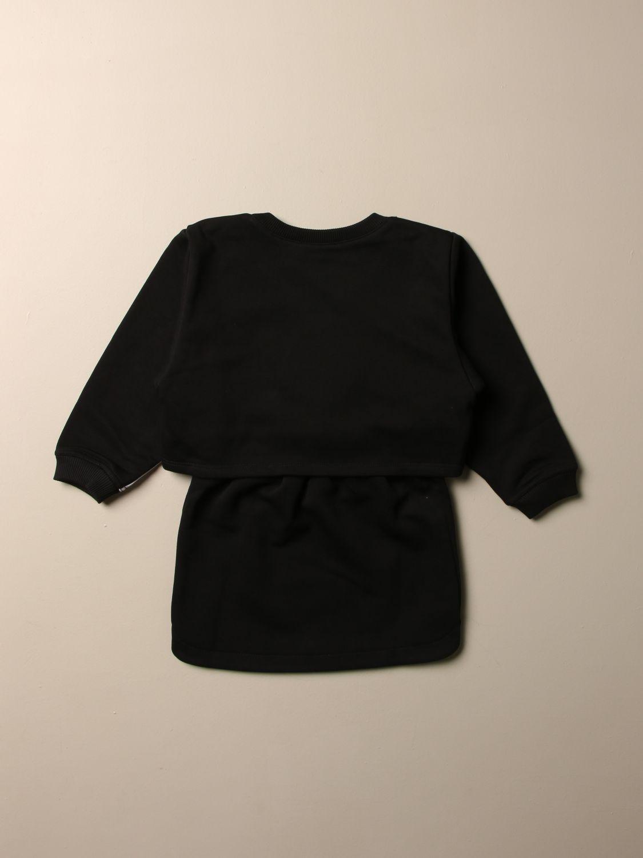 Abito Givenchy: Abito Givenchy in cotone con bande logate nero 2