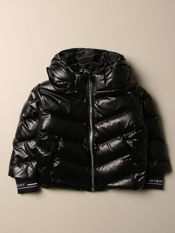 Giacca Givenchy: Piumino Givenchy in nylon imbottito con cappuccio amovibile nero 1