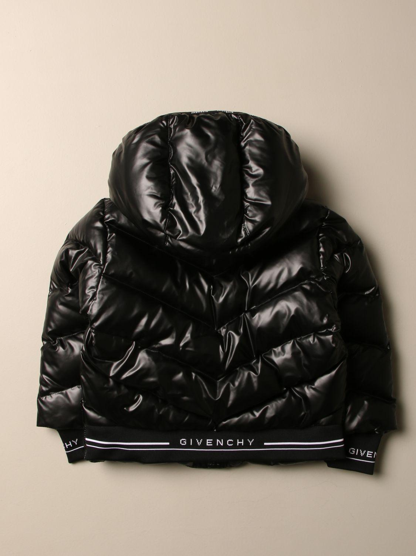 Giacca Givenchy: Piumino Givenchy in nylon imbottito con cappuccio amovibile nero 2