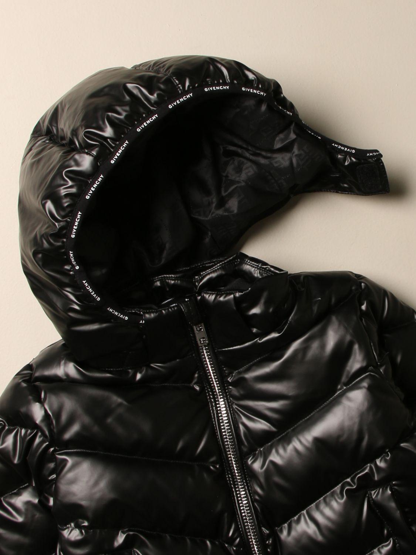 Giacca Givenchy: Piumino Givenchy in nylon imbottito con cappuccio amovibile nero 3