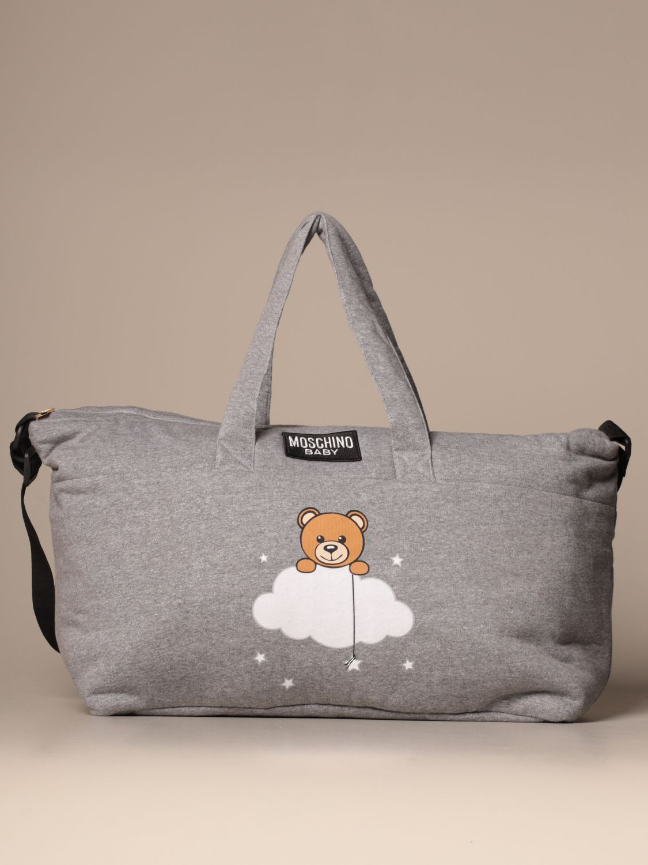 Borsa Moschino Baby: Diaper bag Teddy Nuvola Moschino Baby in cotone grigio 1