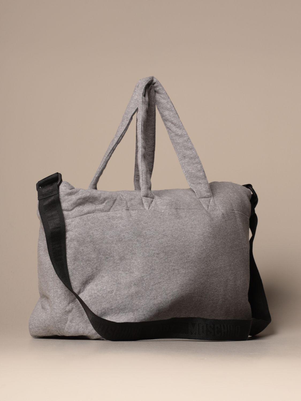 Borsa Moschino Baby: Diaper bag Teddy Nuvola Moschino Baby in cotone grigio 2