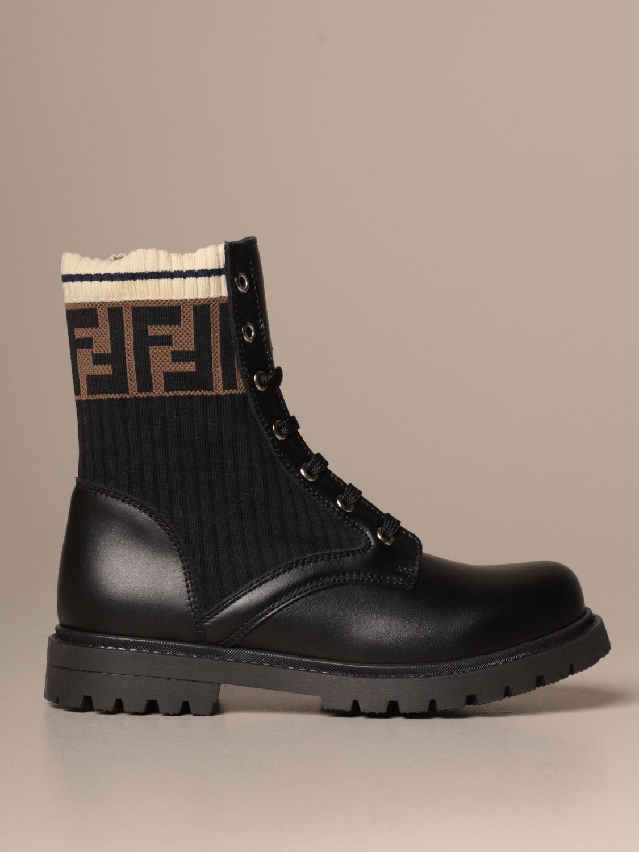 鞋履 Fendi: 鞋履 儿童 Fendi 黑色 1