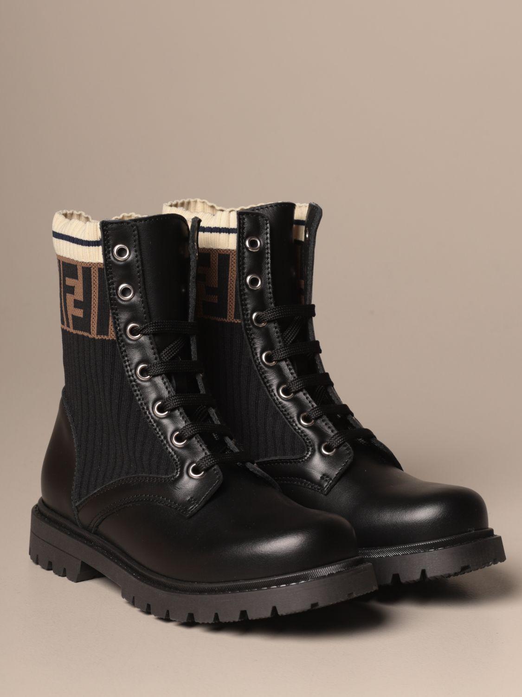 鞋履 Fendi: 鞋履 儿童 Fendi 黑色 2